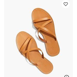 Madewell The Boardwalk Skinny Strap Slide Sandal.